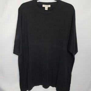 New! Pronto Uomo Black 100% Silk Short Sleeve